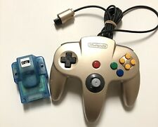 Official Nintendo 64 N64 AUTHENTIC Gold Controller OEM With Rumble Pack