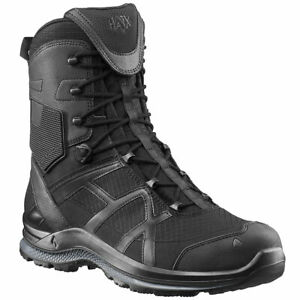 HAIX BLACK EAGLE ATHLETIC 2.0 T HIGH SIDE ZIP Police Security Work Boots Black