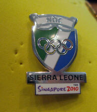 Singapore 2010 rare SIERRA LEONE YOG Olympic NOC team pin