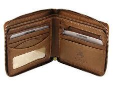 Visconti Zip Intorno Portafoglio di Pelle per carte di credito, Note, monete-Oak drw31