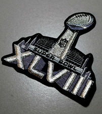 AFL-NFL SUPER BOWL XLVIII SB48 PLAYER JERSEY METALLIC SHINE SILVER IRON-ON PATCH