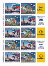 "RARE AIR LABELS NP ""Airbus A380 Lufthansa - 1st Flight Frankfurt-Moscow"" 2012"