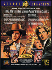 TYRONE POWER Classics__Orig. 1994 Trade AD promo__BLOOD AND SAND__IN OLD CHICAGO