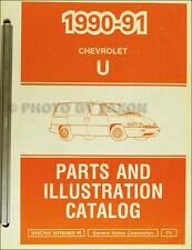 1991 Chevrolet Lumina APV Van Chevy Master Parts Book Illustrated Catalog Manual