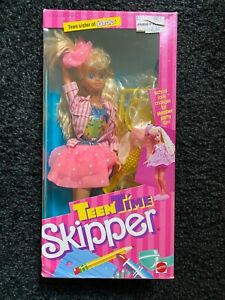 1988 Teen Time Skipper Doll Mattel#1951 Vintage!!NEVER OPENED BOX!!