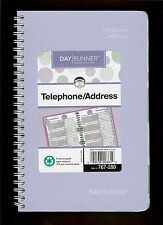 New Day Runner Telephone / Address Book Lavender Bubbles Spiral Bound 767-280