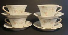 Vintage Theodore Haviland Limoges France 'Marie' Set of 4 cups and saucers