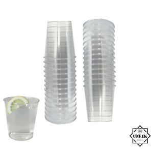 Plastic Shot Glasses Disposable Reusable Clear Cups Wedding Party Game Tableware