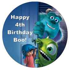 """Monster Inc Personalised Cake Topper 7.5"""" Edible Wafer Paper Birthdays"""
