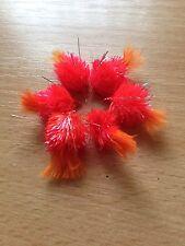 PESCA a mosca trota Blob MOSCHE Fire Cracker Orange-Set di 6