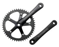 New Black Single Speed Track Fixed Gear Crank Crankset 170mm 48 Teeth 130 BCD