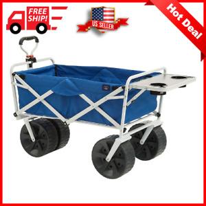 Mac Sports Collapsible Folding All Terrain Outdoor Beach Utility Wagon Cart