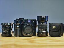 Mamiya 7 II Black 6x7 Rangefinder Medium Format Camera + 80mm + 150mm + filters