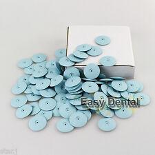 50pcs Dental Lab Dremel Rotary Tool Burs Silicone Polishers Wheels Disk Blue