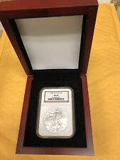 2006-W Silver American Eagle Burnished NGC-MS69 In Cherry Wood Box