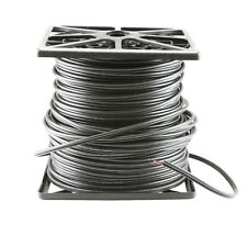 500FT RG59 Siamese Shotgun Cable 20AWG+18/2 CCTV Security Camera Wire - Black