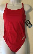 NWT Arena Women's MAST High FL One-Piece Swimsuit Swimming Suit Size 36 Red