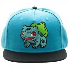 e34a740f942 Bioworld Pokemon Bulbasaur Embroidered Snapback Cap Hat Blue