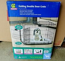 "Top Paw 24"" Double Door Folding Crate For Dogs 12-25 Pounds"