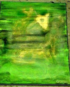 Magic Dragon and The Wish Granting Spirit,JINN,Genie,Good Luck Painting,Art,BFF,