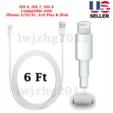 Generic 6FT 8 Pin USB Data Sync Charger Cable for iPhone 5/5S/5C/6/6Plus, iPod