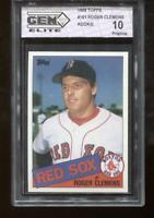 Roger Clemens RC 1985 Topps #181 Red Sox Rookie GEM Elite 10 Pristine