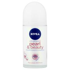 NIVEA PEARL & BEAUTY ANTIPERSPIRANT DEODORANT ROLL ON - 50ML