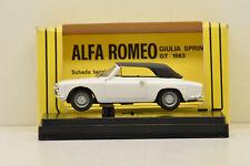 ALFA ROMEO GIULIA GTC CLOSED 1965 WHITE PROGETTO K 1/43 NEUVE EN BOITE