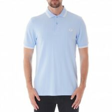 FRED PERRY Twin Tipped Polo Shirt , Summer Blue - Size S , BNWT - RRP £64.99