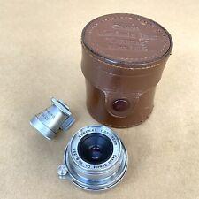 Canon Serenar 35mm F/3.5 Lens LTM M39 W/ Finder & Case, VINTAGE, NICE!