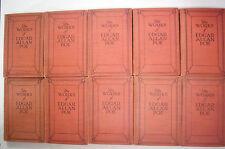 1904 Complete Set THE WORKS OF EDGAR ALLAN POE The Raven A Gordon Pym Gold Bug++
