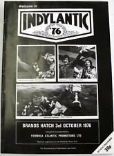 Brands Hatch indylantic'76 3rd OTT 1976 MOTOR RACING PROGRAMMA UFFICIALE