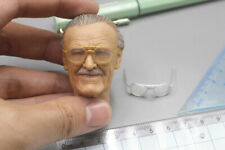 "1/6th Stan Lee's Smiling Head Carving + glassesModel for 12"" Action Figure"