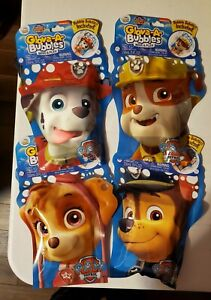 Glove A Bubbles Paw Patrol With Bubble Solution Wave n Play Set of 4 New