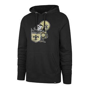 New Orleans Saints Men's Throwback Legacy Logo Pullover Hoody Sweatshirt - Black