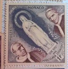 Monaco stamps - Que soy era Immaculada Conceptiou - FREE P & P