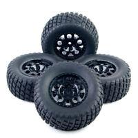 USA 4X 1:10 Short Course Truck Tires Tyre Wheel Rim For RC TRAXXAS SlASH HSP HPI