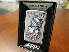 TIMELESS PINUP GIRL DAY OF THE DEAD ZIPPO LIGHTER MINT IN BOX