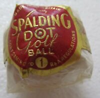 VINTAGE WRAPPED SPALDING DOT DIMPLE GOLF BALL CIRCA 1960'S UK MADE-REALLY NICE