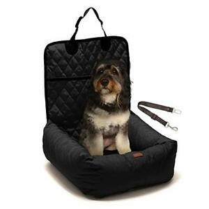 Dog Car Booster Seat - Luxurious 2-in-1 Dog Carseat & Comfy Indoor Lounge Bed...