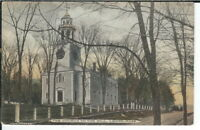 CG-103 MA, Lenox The Church on the Hill, Divided Back Postcard Albertype Co