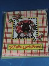Mary Engelbreit 8 Note Cards & Envelopes Merry Christmas Scottie Dog Glitter New
