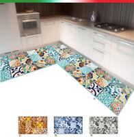 Tappeto cucina angolare passatoia su misura al metro antiscivolo mod.TAPIRO31