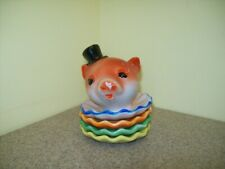 New listing Vintage Stack-Able Piglet w/Hat Ashtray Porcelain/Ceramic