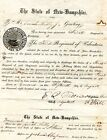 3rd REGT NH VOLUNTEERS COMMISSION JONAH LIBBY 1ST SGT E FELLOWS COL 1861