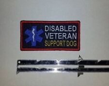 Mini Disabled Veteran Support Dog - Navy Embroidered Sew-On Patch