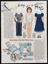 Vintage Betsy McCall Mag. Paper Doll, Betsy Goes to Paris, May 1995