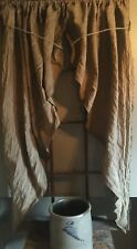 54� Long Primitive Grungy Fishtail Curtains