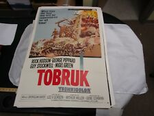 One Sheet Movie Poster Toburk 1967 Rock Hudson George Peppard Guy Stockwell