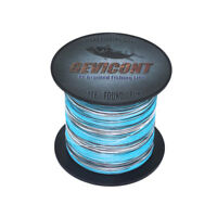 GEVICONT Blue Camo Test 100% PE Braided Fishing Line Super strong 6lb-100lb Line